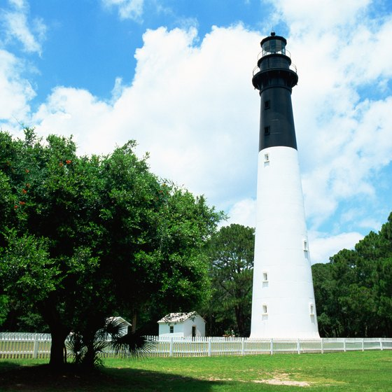 The Hunting Island Lighthouse is the only South Carolina lighthouse open to the public.