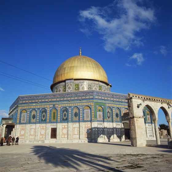 Cruises offer choices of shore excursions to Jerusalem.