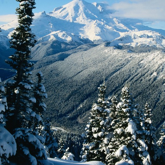 A wintry view of the Cascades in Washington state.