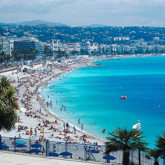 Enjoy luxury beachfront hotels on the Cote d'Azur.