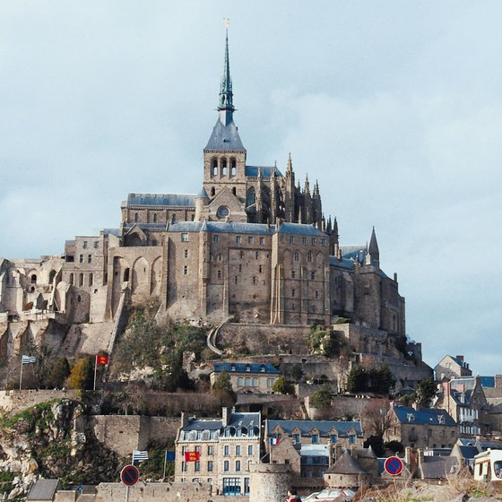 Mont Saint Michel towers over the Normandy region of France.