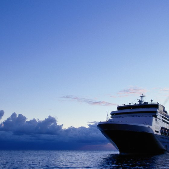 Cover the Atlantic by cruise ship from the United States to England.