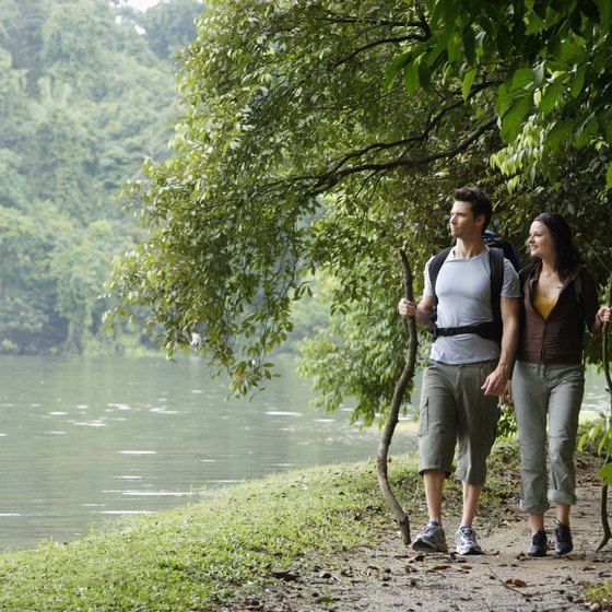 Ecotourism activities such as backpacking and hiking limit negative impacts on the natural environment.
