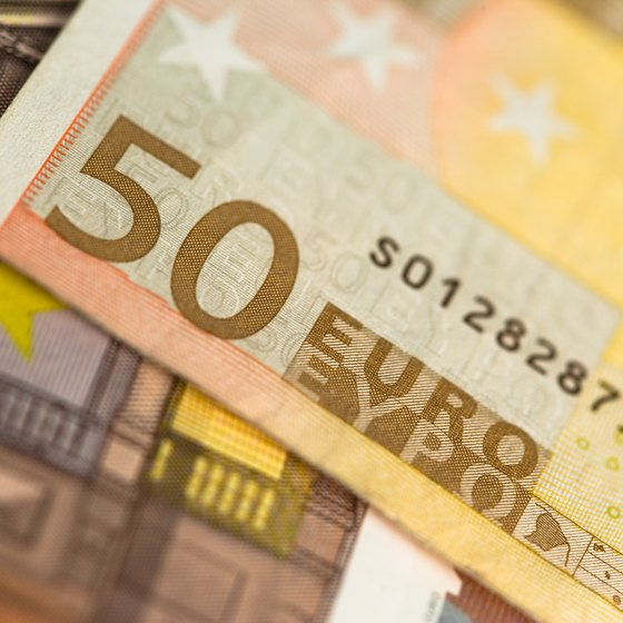 The euro, like the American dollar, is distributed in various denominations.