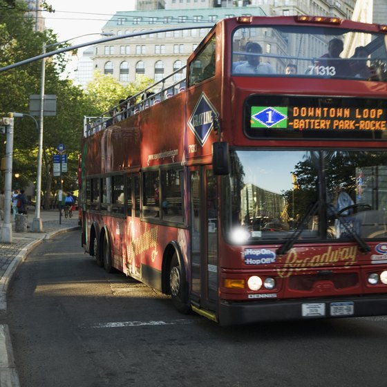 Bus transfers are common for tour groups.
