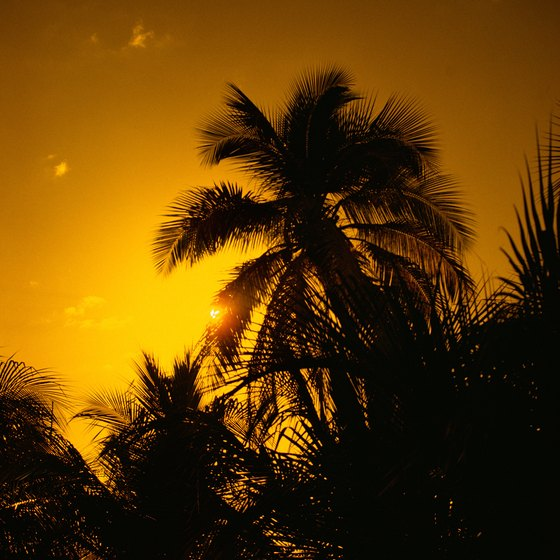 Visitors to the beaches of Jacmel enjoy spectacular sunsets.