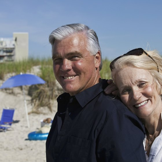 Many retirees seek retirement homes on the beach.