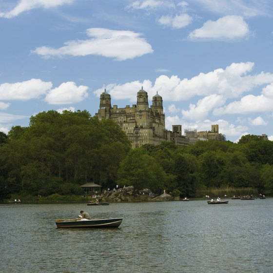 Spend a Monday morning in N.Y.C. boating on the lake in Central Park.