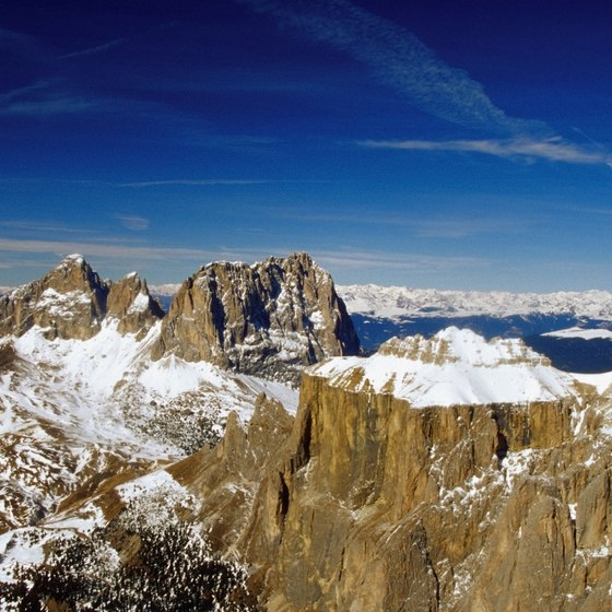 The Dolomites are an especially distinctive area of the Italian Alps.