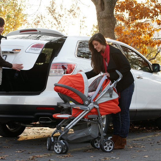 A travel system combines a stroller with a baby car seat.