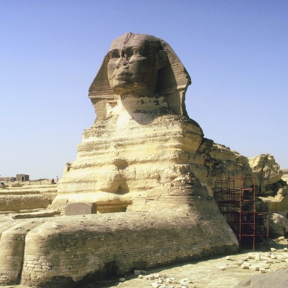 Nobody is sure who vandalized the Sphinx.