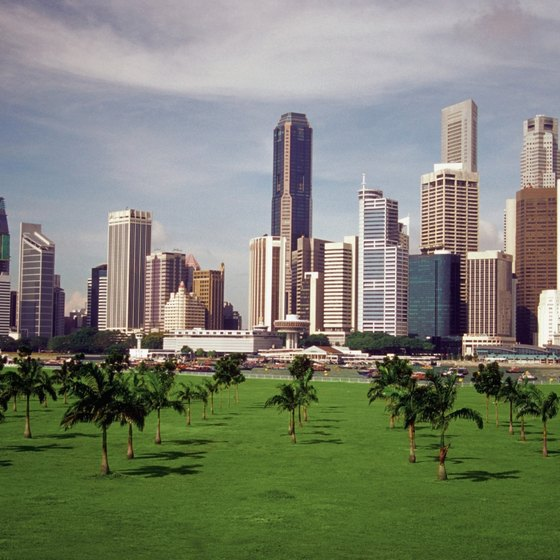 Singapore's only 18-hole public golf course, Marina Bay, offers views of the Singapore skyline.