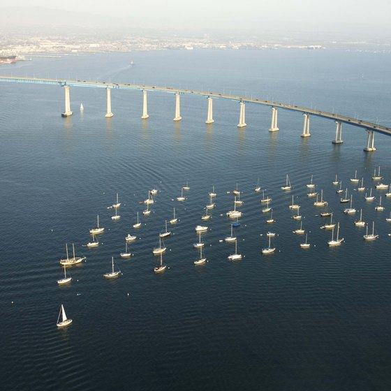 San Diego's Coronado Bridge extends for more than two miles.