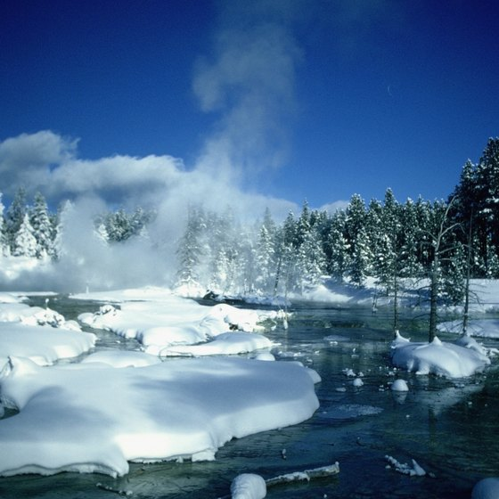 Yellowstone National Park attracts visitors year round.