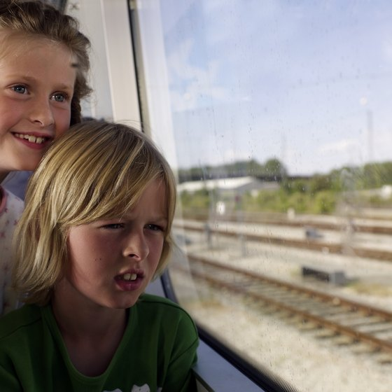 Train trips let kids get a close up view of the countryside.