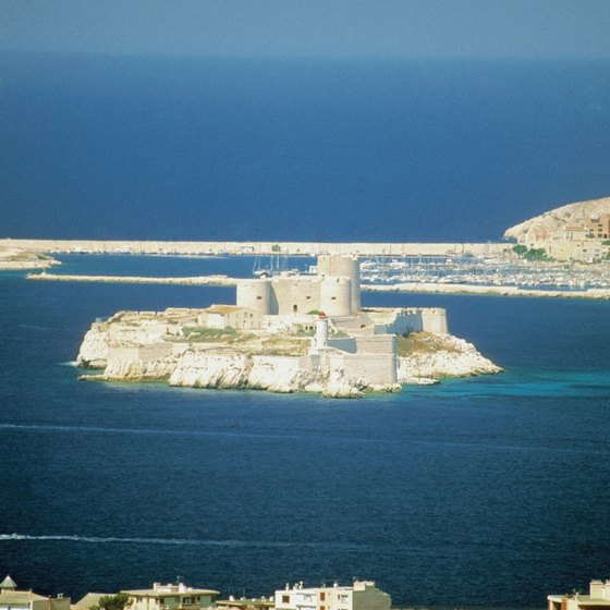 Chateau D'If lies off the coast of Marseille.
