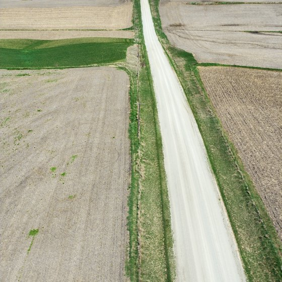 Indiana's flat to gently rolling terrain supports substantial agriculture.