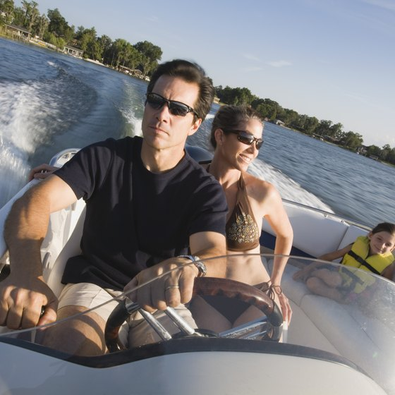 Boating and watersports are among the activities around Orlando, Florida.