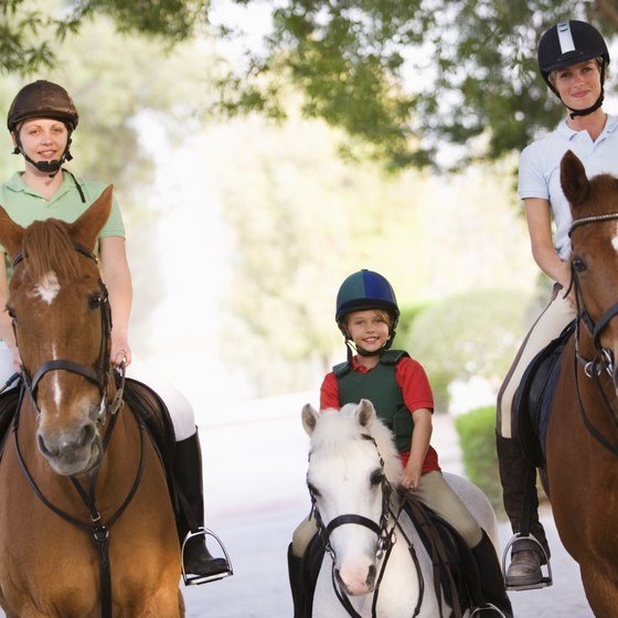 Head to a horseback riding stable near Niles, Illinois.