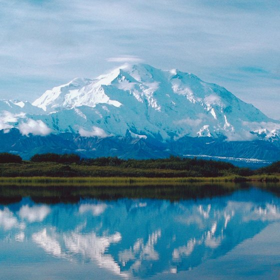 Snowy Mt. McKinley soars more than 20,000 feet above sea level -- the tallest peak in North America.