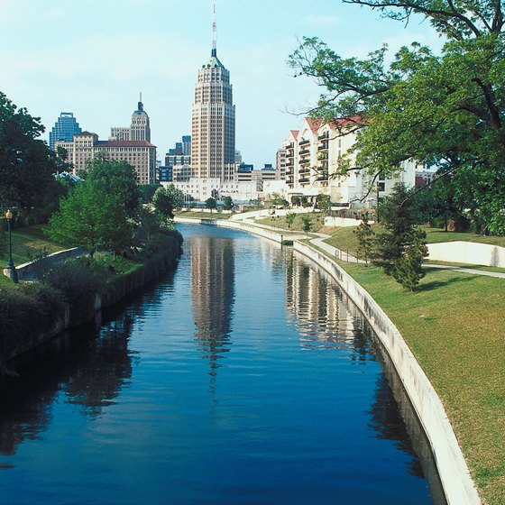 San Antonio's Riverwalk cuts through the heart of the city.