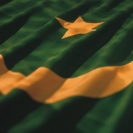 The flag of Mauritania.