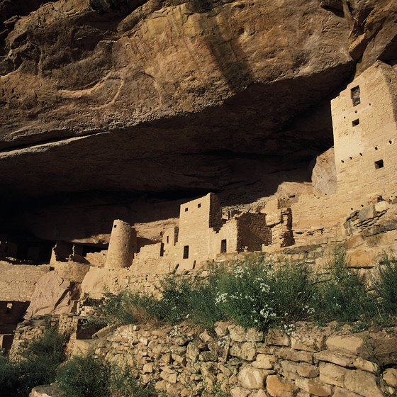 The Pueblo Indian ruins at Mesa Verde