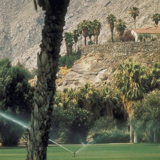 Golfing is a popular pastime in Palm Springs.