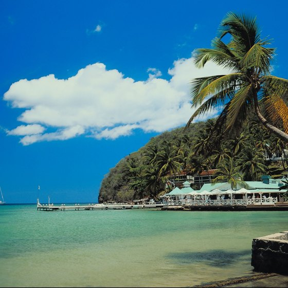 St. Lucia is part of the British Virgin Islands.