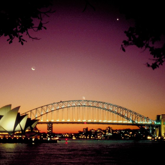 Incoming cruise ships afford magnificent views of the Sydney Opera House and Harbour Bridge.