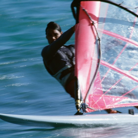 Westerly's beaches are frequented by local windsurfers.