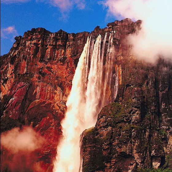 Venezueula's Canaima National Park hosts Angel Falls, the world's tallest waterfall.