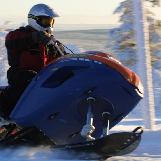 Old Forge has 500 miles of groomed snowmobile trails.