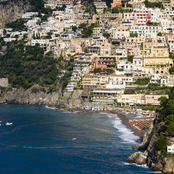 Positano is an expensive fashion hub and beachside retreat along Italy's Amalfi Coast.