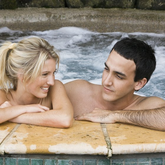 Hot Tubs For Two Are Among The Amenities In Honeymoon Cabins In Eureka  Springs.