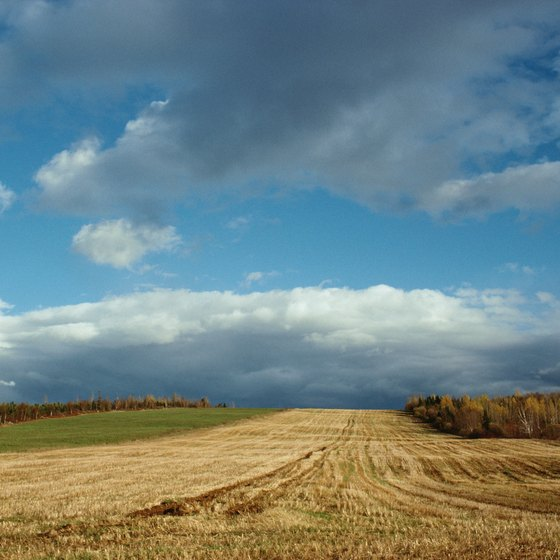 Manitoba's landscapes include level plains, broken highlands and huge bodies of water.