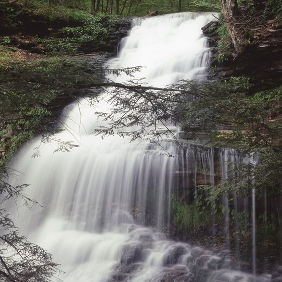 Ganoga Falls is the tallest of nearly two dozen waterfalls at Ricketts Glen State Park.