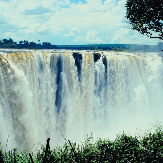 Victoria Falls are a spectacular sight in Africa.