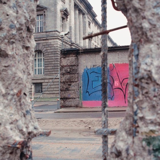 The Berlin wall is an emblem of the now re-unified Germany.