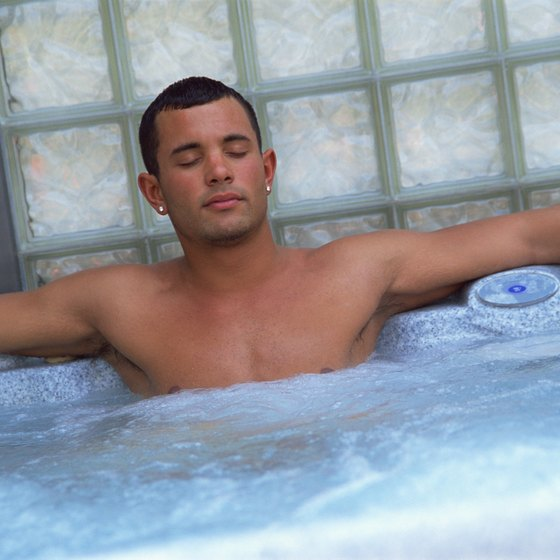 In-room Jacuzzis are a convenient way to relax when you're traveling.