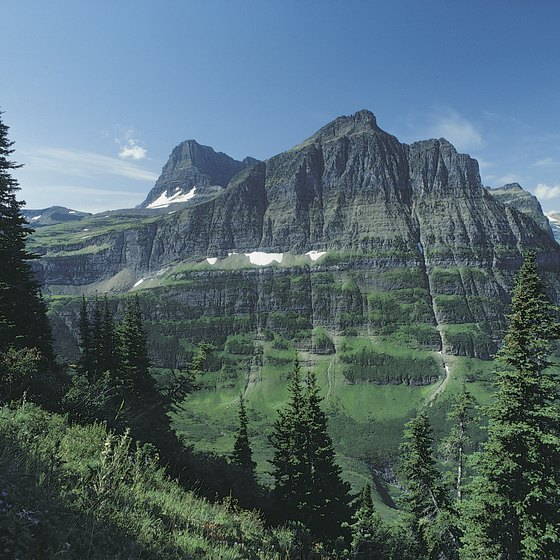 Mt. Oberlin is just one of the sights of Glacier National Park.
