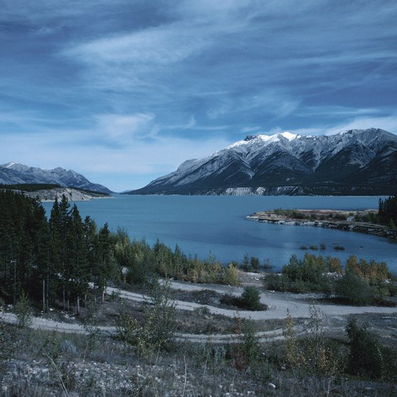 Construction of the Bighorn Dam created Alberta's Abraham Lake.