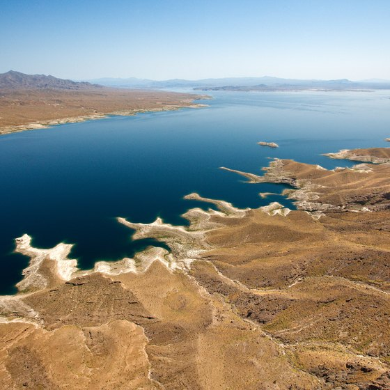 Lake Mead, the largest reservoir in the U.S., offers respite from the heat.