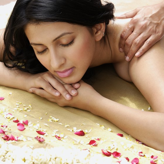 A massage is just one treatment out of many available at spas throughout Georgia.