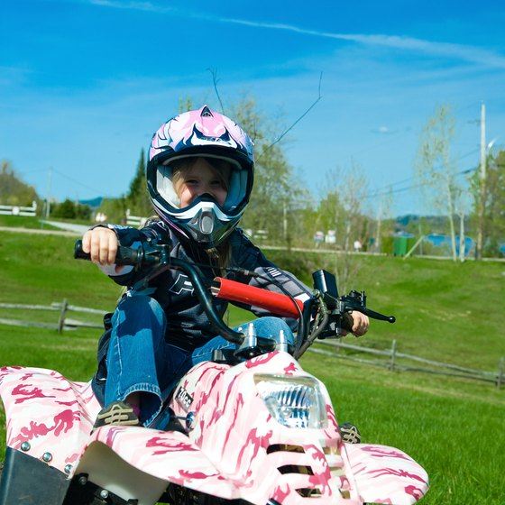 Large ATV parks in the eastern United States often have expansive peewee tracks.