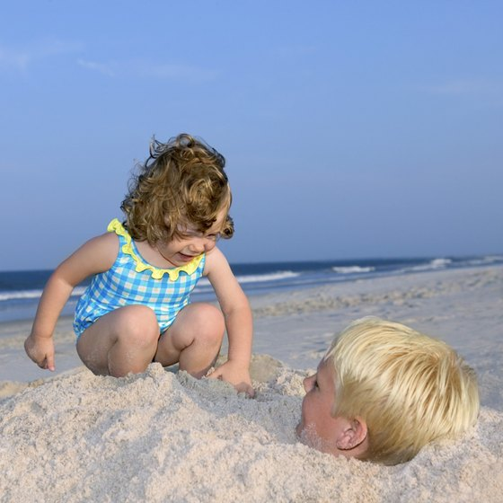 The beach can keep your toddler entertained for hours.