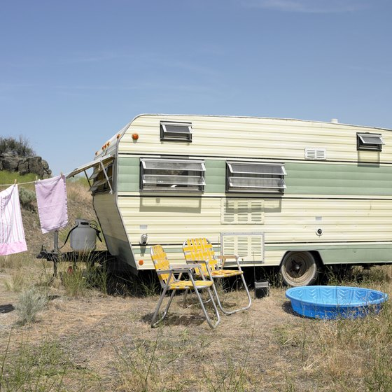 Some travel trailer's are large enough to spend the night in.
