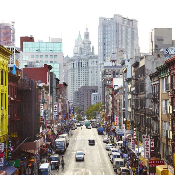 New York's Canal Street runs through Chinatown.