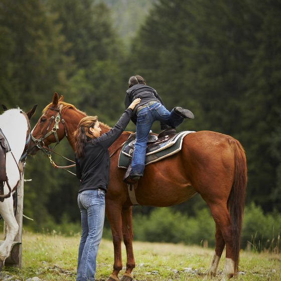 Trail rides accommodate all ages.