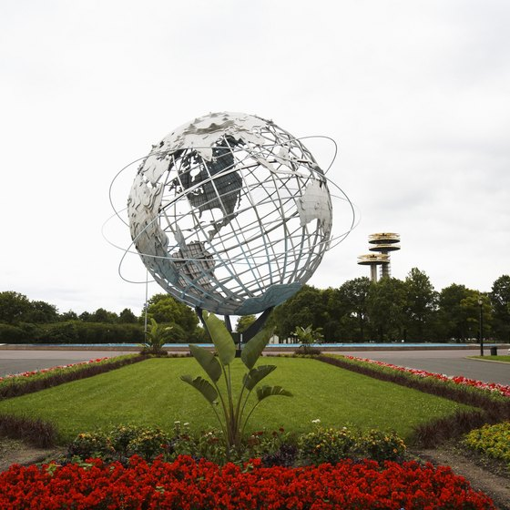 The world's largest globe is located in Queens' Flushing Meadows Corona Park.
